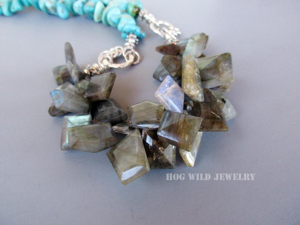 turquoise labradorite necklace C3